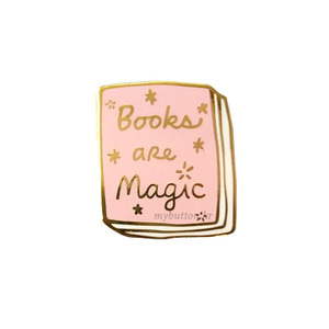 [USA][Pin]Book pins_Books are Magic(Pink)