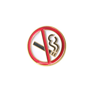 [MB][Pin]No Smoking Round.금연핀뱃지 ver.2