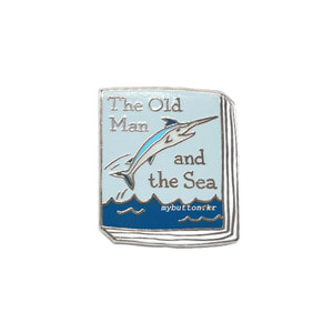 [BK][Pin]Book pins_The Old Man and the Sea.노인과 바다 북뱃지