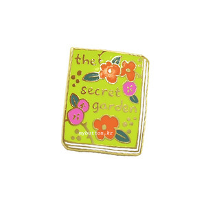 [BK][Pin]Book pins_the Secret Garden.비밀의 화원 북뱃지