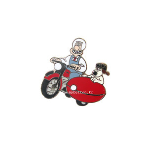 [ETC][Pin]Wallace&Gromit(Motorbike).월레스와 그로밋 뱃지