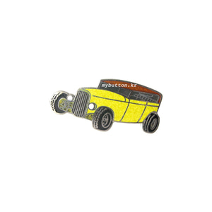 [EU][Pin]Yellow car.빈티지뱃지