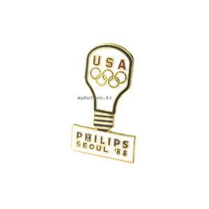 [USA][Pin]Philips Seoul 88.빈티지뱃지