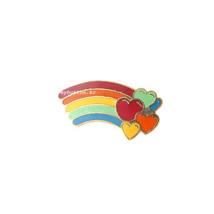 [USA][Brooch]Rainbow(Hearts).빈티지 브로치