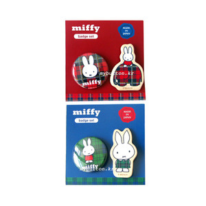 [Pinbutton/Brooch][SET]Miffy.핀버튼브로치세트