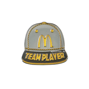 [Mc][Pin]Teamplayer Cap.맥도날드 뱃지