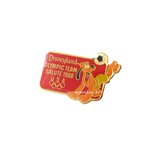 [Vintage][USA][Brooch][Disney]Soccer Disney Brooch_Pluto.빈티지 브로치