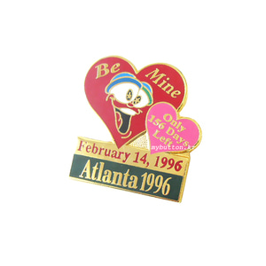[Vintage][USA][Pin]Valentine's Day Olympic.빈티지 뱃지